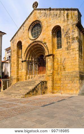view of Igreja de Santiago church, Coimbra, Portugal