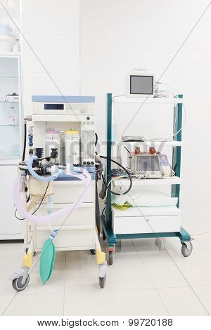 The image of anesthesia apparatus