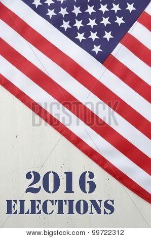 USA 2016 Presidential Election Flag