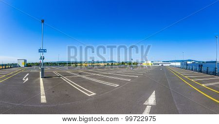 Empty Outdoors Parking Area