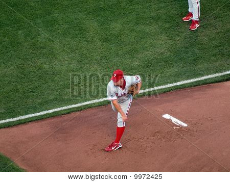 Philadelphia Phillies Joe Blanton Warms Up In Bullpen