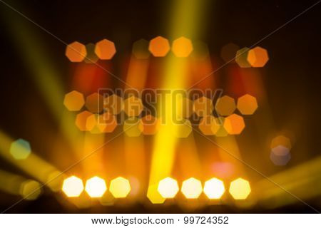 Bokeh from live concert