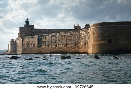 Maniace Castle Fortification in Sicily, Italy