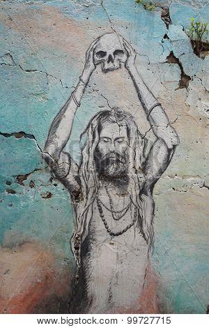 Graffiti On The Ghats Of Varanasi