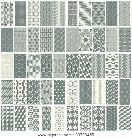50 Geometric Seamless Pattern Set.