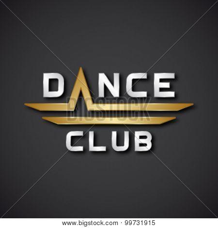 EPS10 vector dance club text icon