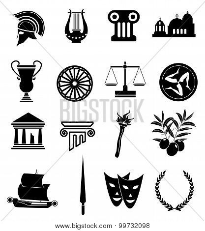 Ancient rome icons set