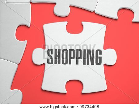 Shopping - Puzzle on the Place of Missing Pieces.
