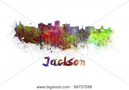 Jackson Skyline In Watercolor