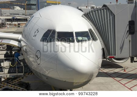 Passenger Airplane Front View