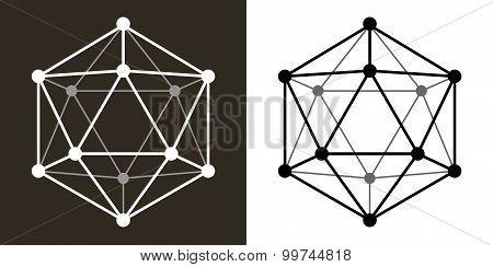 Icosaedro Wire Transparent Shape