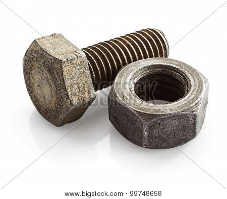 Old Bolt And Nut