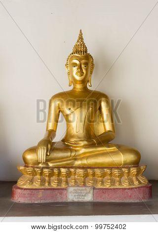 Golden Buddha Statue Of  Buddha , Phitsanulok