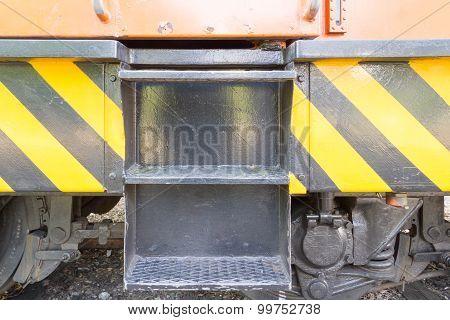 The Stair Of Locomotive For Repari Railrode Tracks