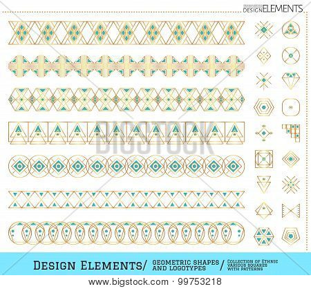 Set Of Geometric Gold Shapes And Logotypes6548885111Z3