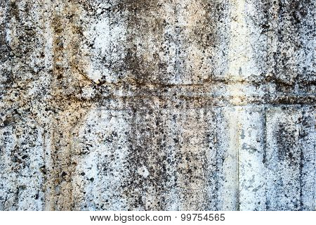 White Old Painted Concrete Dirty Wall Texture