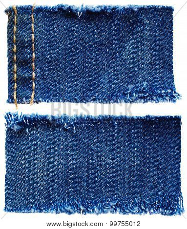 Pieces Of Jeans Fabric