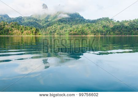 Beautiful Mountains And Lake   In Ratchaprapha Dam At Khao Sok National Park, Surat Thani Province