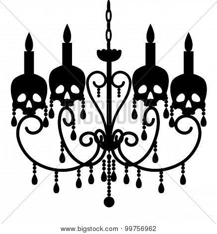 Chandelier with skulls