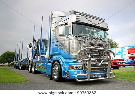 Scania R730 Timber Truck In Power Truck Show
