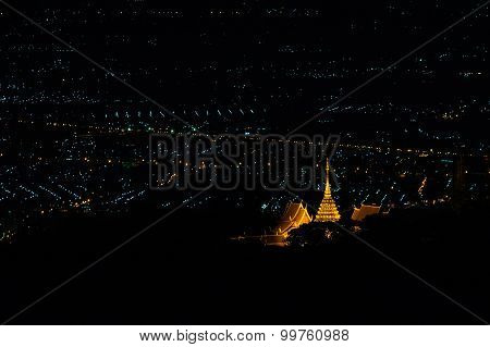 Wat Phra That Doi Suthep (temple) Is A Major Landmark Of Chiang Mai, Thailand