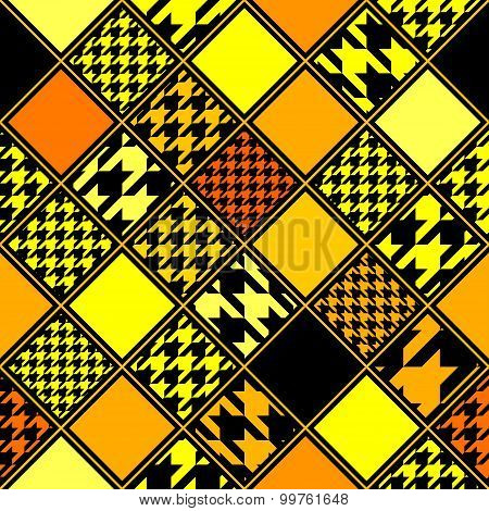 Yellow houndstooths pattern