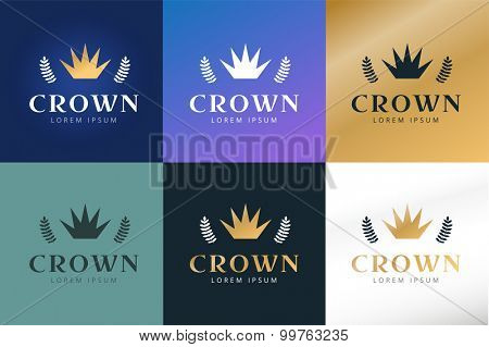 Crown abstract logo vector template. Hotel logo. Kings symbol. Power shape icon. Business leaders, boss, premium quality. Queen crown. Crown logo. Crown icon. Premium product. Lawyer or loan logo