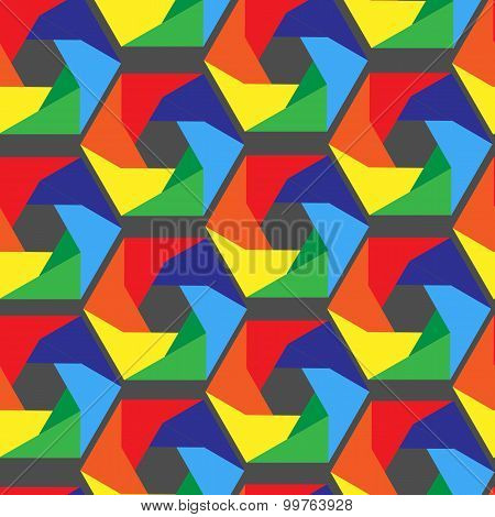 Seamless Vector Pentagon Background