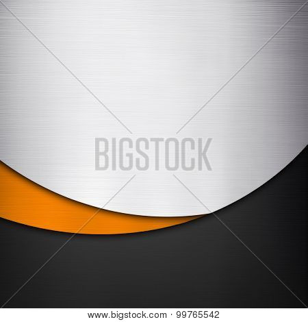 metal background with curve pattern