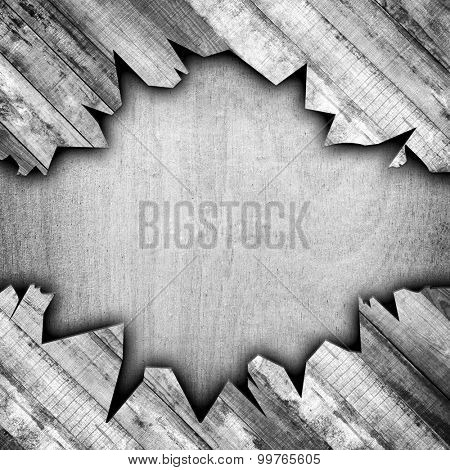 crack old wood plank