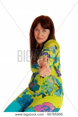 Woman Showing Her Hand With Thump Up.