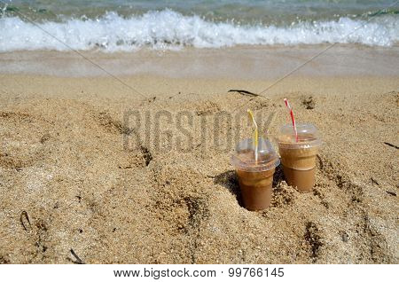 Cold Coffee Frappesand  A Wave
