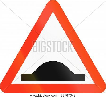 Bangladeshi Speed Bump Sign
