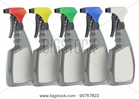 Cleaner Spray Plastic Bottles With Blank Lable