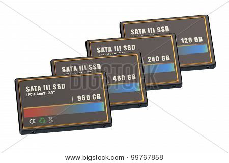 Set Of Ssd Solid State Drives