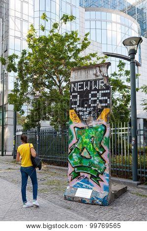Peace Of Berlin Wall In Brussels, Belgium