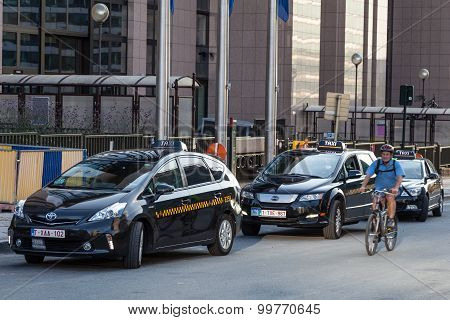 Taxis In The City Of Brussels