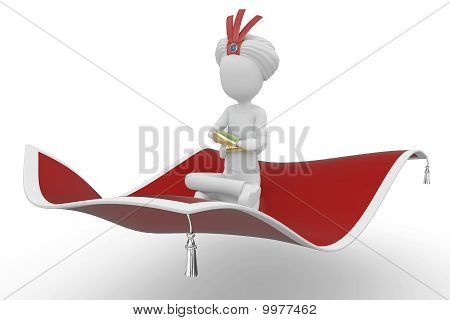 3D Man With Flying Carpet