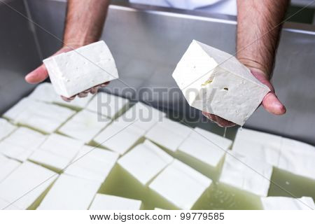Bulgarian White Feta Cheese Cubes