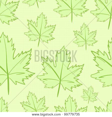 Seamless maple leaves