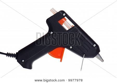 Hot Glue Pistol Isolated On White Background