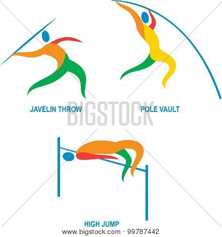 Javelin Throw Pole Vault High Jump Icon