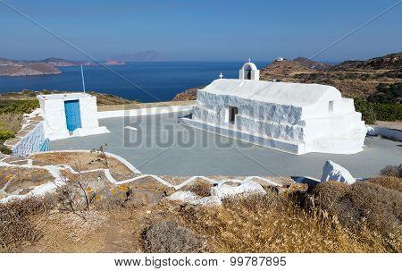 Panagia Tourliani chapel, Milos island, Greece