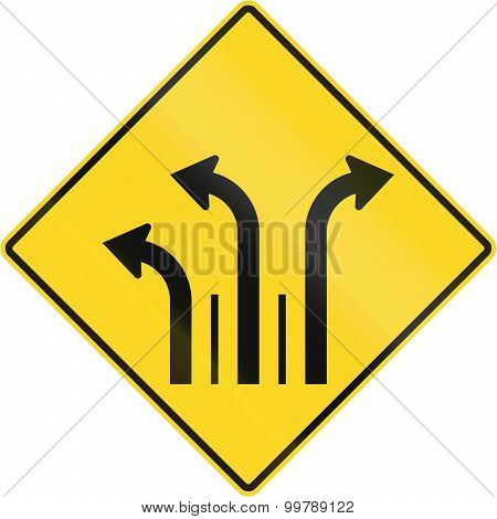 Three Lanes With Right And Left Turn Lane In Canada