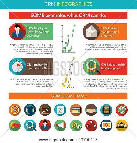 Crm Infographics Set