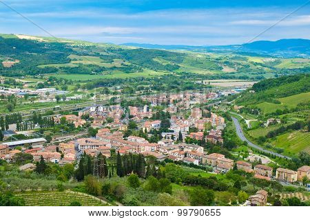 Panoramic landscape near the town of Orvieto Umbria Italy