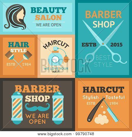 Hairdress Poster Set
