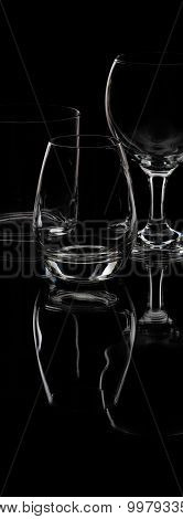 Drink Glasses On Isolated Background