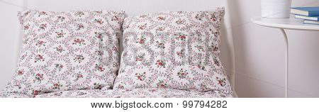 Decorative Cushions And Bedside Table