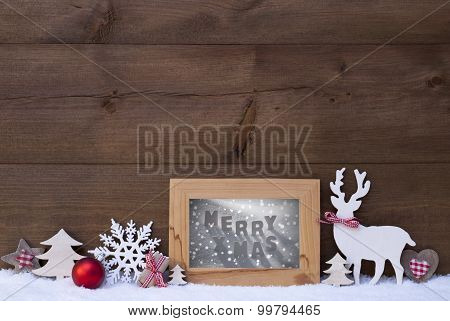 Christmas Background Snow Frame Merry Xmas